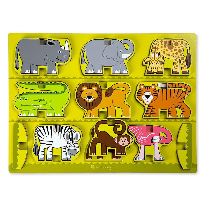 Melissa and Doug Stacking Chunky Safari Puzzle Toy