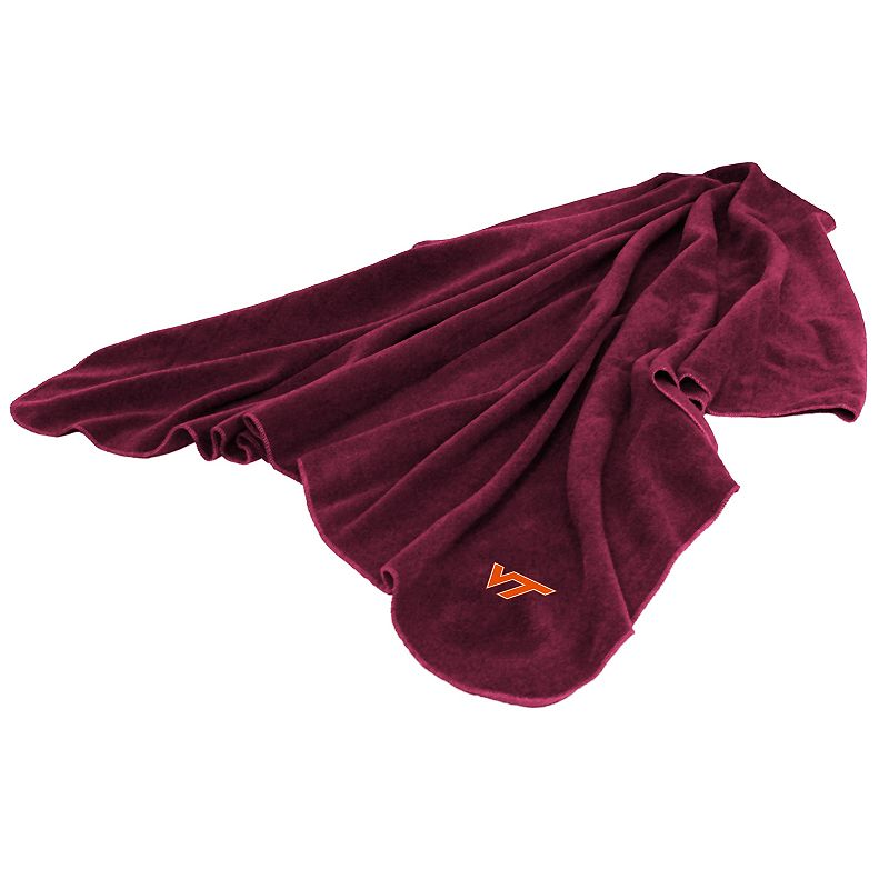 Logo Brand Virginia Tech Hokies Fleece Throw Blanket
