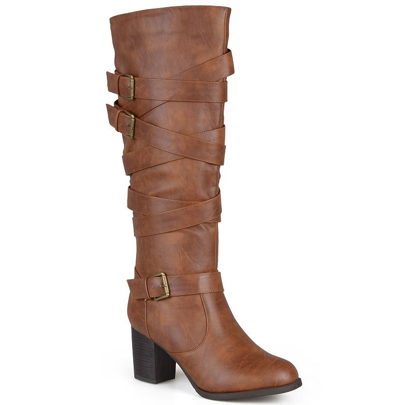Journee Collection Kay Women's Strappy Tall Boots