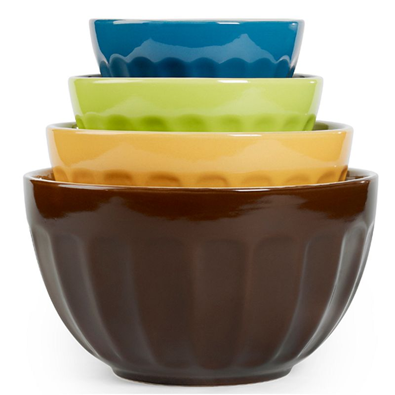 Tabletops Gallery Cafe 4-pc. Mixing Bowl Set