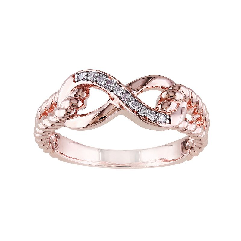 Diamond Accent 10k Rose Gold Infinity Ring