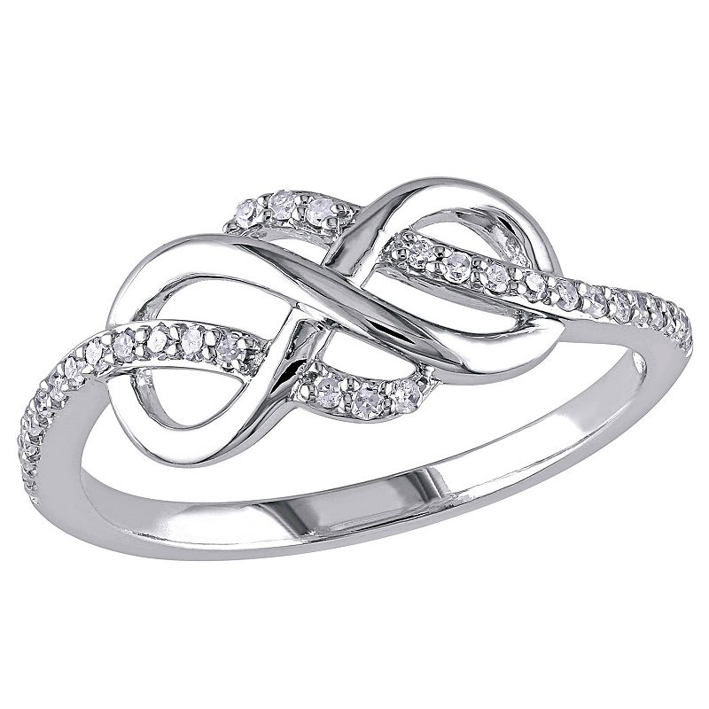 1/8 Carat T.W. 10k White Gold Infinity Ring
