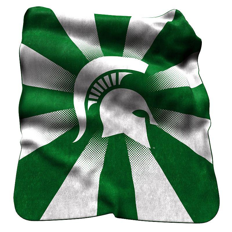 Logo Brand Michigan State Spartans Raschel Throw Blanket