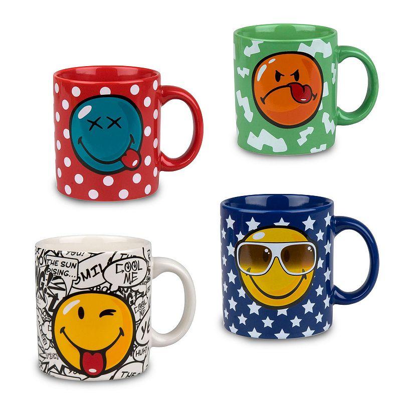 Waechtersbach Fun Factory Smiley 4-pc. Assorted Coffee Mug Set