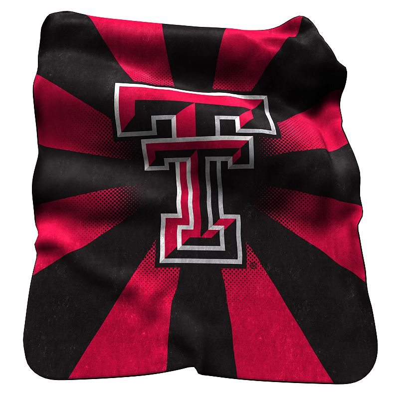 Logo Brand Texas Tech Red Raiders Raschel Throw Blanket