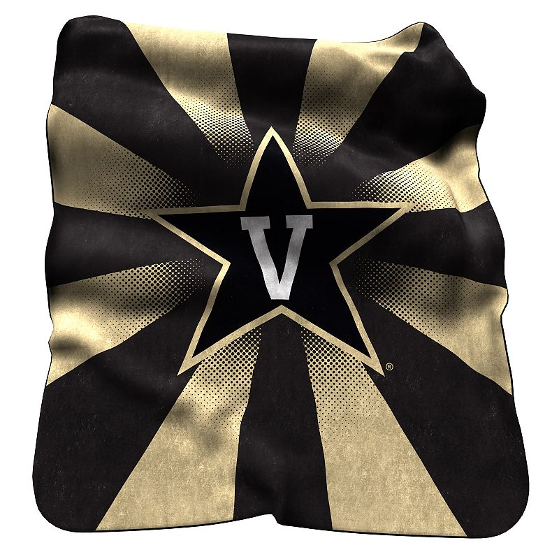 Logo Brand Vanderbilt Commodores Raschel Throw Blanket