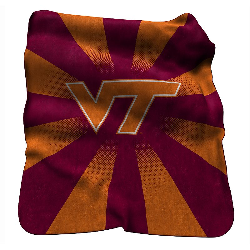 Logo Brand Virginia Tech Hokies Raschel Throw Blanket