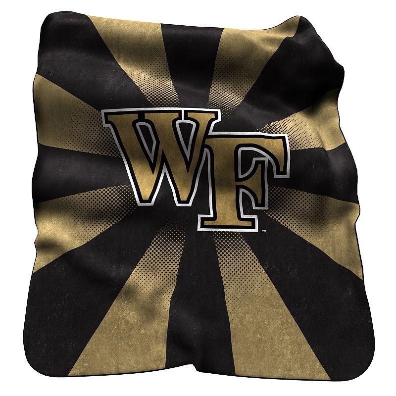 Logo Brand Wake Forest Demon Deacons Raschel Throw Blanket