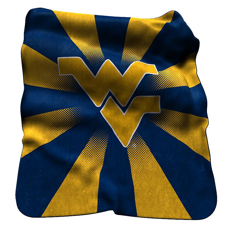 Logo Brand West Virginia Mountaineers Raschel Throw Blanket