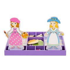Disney Sofia the First & Princess Amber Wooden Magnetic Dress-Up Dolls by Melissa & Doug by