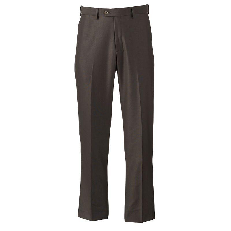 Men's Croft & Barrow® Classic-Fit Pindot Easy-Care Flat-Front Comfort Dress Pants