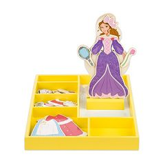 Disney Princess Belle Wooden Magnetic Dress-Up Doll by Melissa & Doug by
