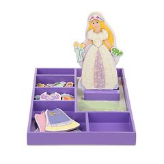 Disney Princess Rapunzel Wooden Magnetic Dress-Up Doll by Melissa & Doug by