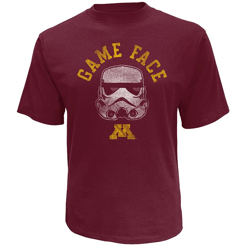 Men's Star Wars College Minnesota Golden Gophers Stormtrooper Game Face Tee