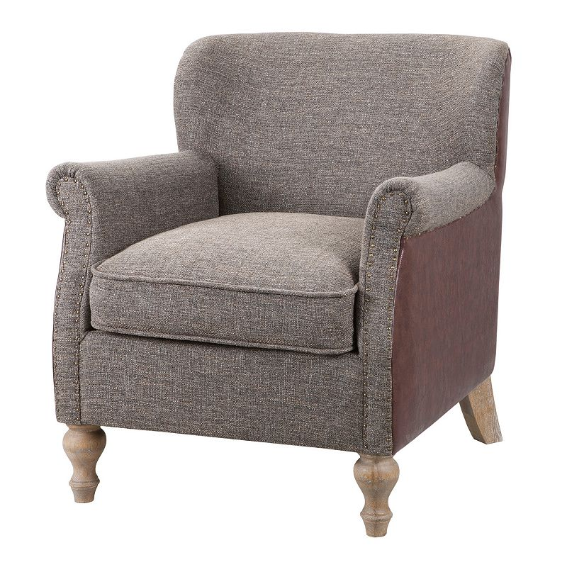 Madison Park Luther Gray Accent Chair