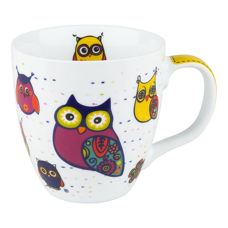 Konitz Owls 4-pc. Coffee Mug Set