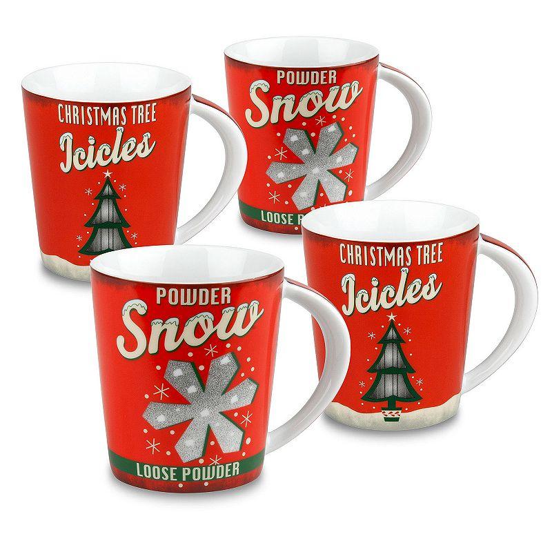 Konitz Vintage Christmas 4-pc. Assorted Coffee Mug Set