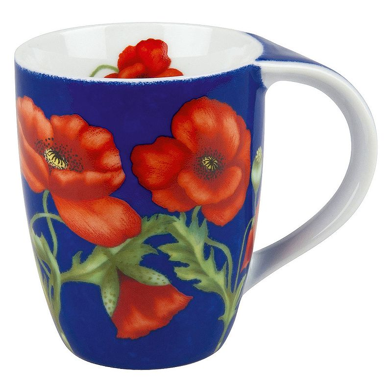 Konitz Poppy Blossom 4-pc. Coffee Mug Set
