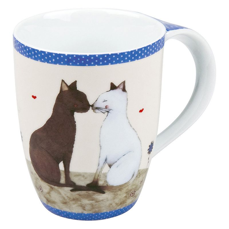 Konitz Cat Couple 4-pc. Coffee Mug Set