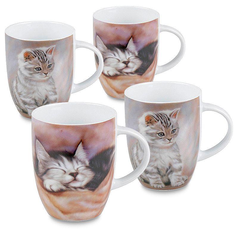 Konitz Cats 4-pc. Coffee Mug Set
