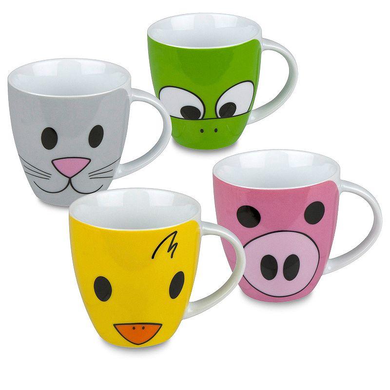 Konitz Zoo 4-pc. Assorted Coffee Mug Set