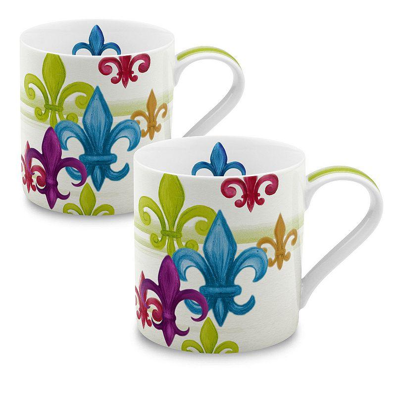 Konitz Fleur de Lis 2-pc. Coffee Mug Set