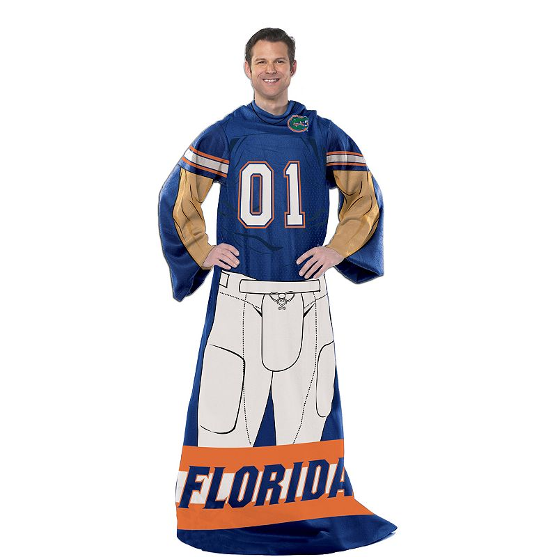Florida Gators Uniform Comfy Throw Blanket with Sleeves by Northwest