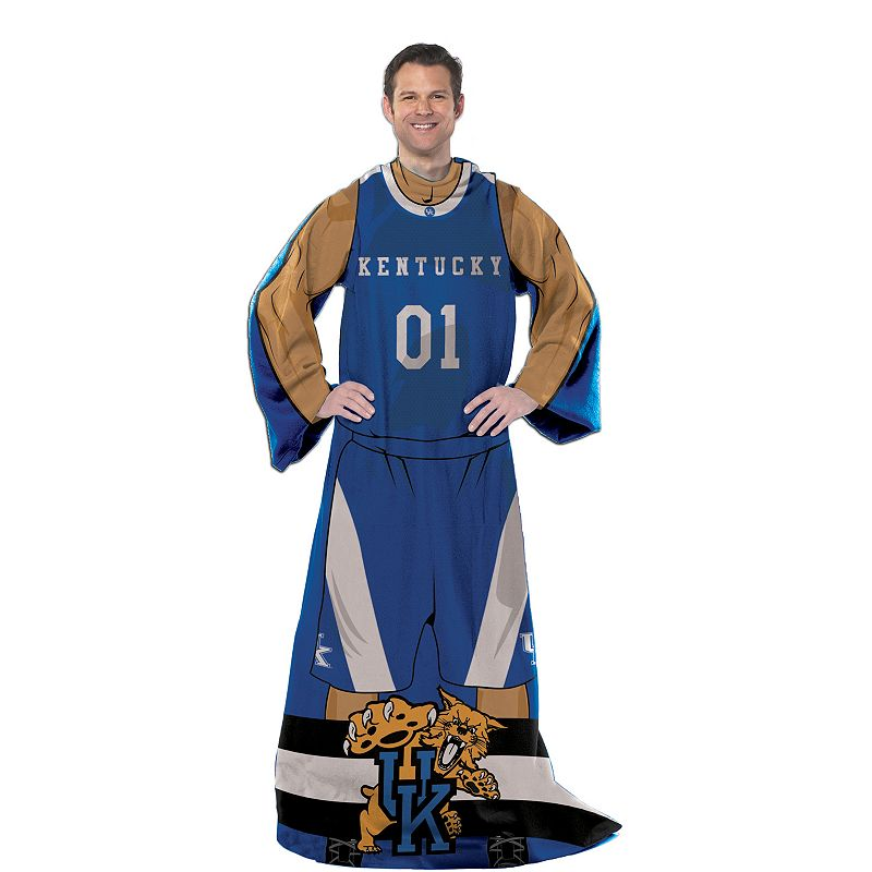 Kentucky Wildcats Uniform Comfy Throw Blanket with Sleeves by Northwest