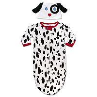 Baby Neutral Sozo Dalmatian Bunting & Cap Set