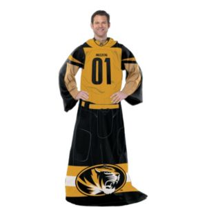 Missouri Tigers Uniform Comfy Throw Blanket with Sleeves by Northwest