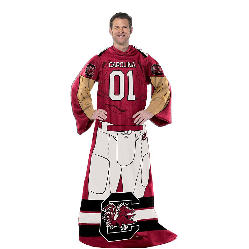 South Carolina Gamecocks Uniform Comfy Throw Blanket with Sleeves by Northwest