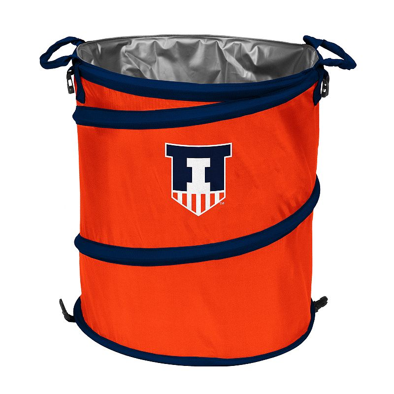 Logo Brand Illinois Fighting Illini Collapsible 3-in-1 Trashcan Cooler
