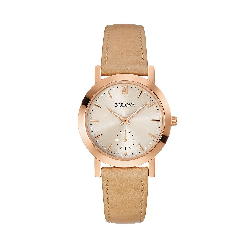 Bulova women 39 s leather watch 97l146 for Watches kohls