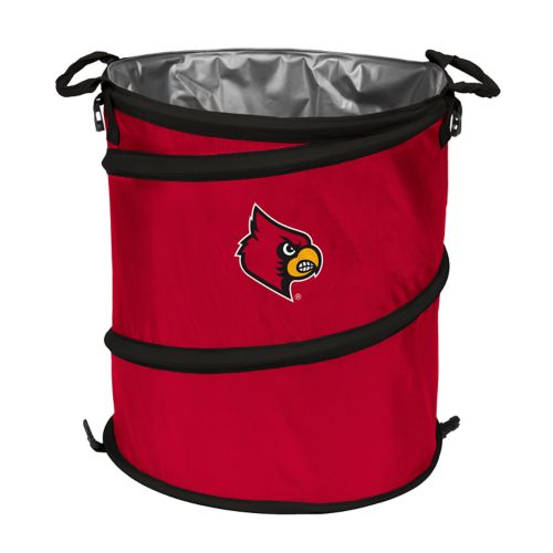 Logo Brand Louisville Cardinals Collapsible 3-in-1 Trashcan Cooler