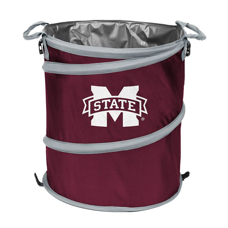 Logo Brand Mississippi State Bulldogs Collapsible 3-in-1 Trashcan Cooler