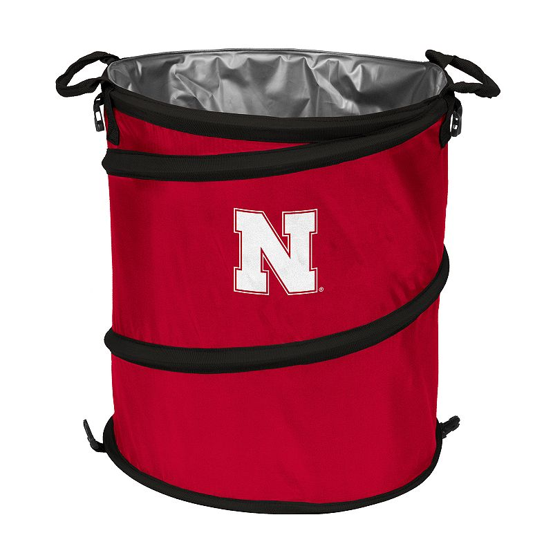 Logo Brand Nebraska Cornhuskers Collapsible 3-in-1 Trashcan Cooler