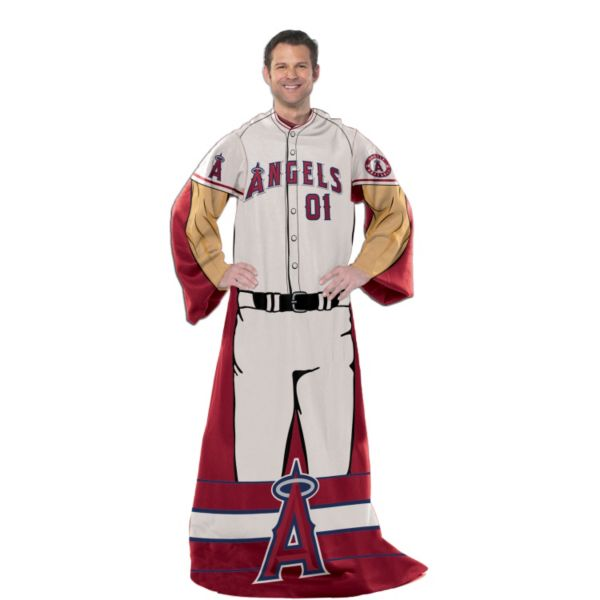 Los Angeles Angels of Anaheim Uniform Comfy Throw Blanket with Sleeves by Northwest