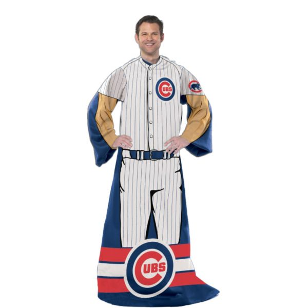 Chicago Cubs Uniform Comfy Throw Blanket with Sleeves by Northwest