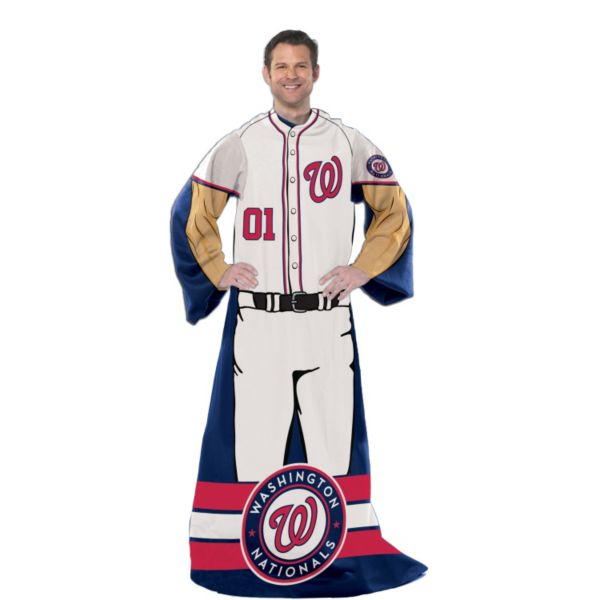 Washington Nationals Uniform Comfy Throw Blanket with Sleeves by Northwest