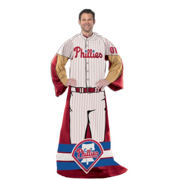 Philadelphia Phillies Uniform Comfy Throw Blanket with Sleeves by Northwest