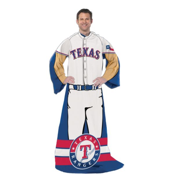 Texas Rangers Uniform Comfy Throw Blanket with Sleeves by Northwest