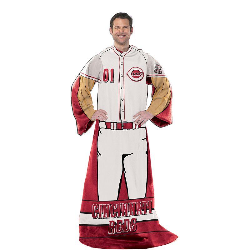 Cincinnati Reds Uniform Comfy Throw Blanket with Sleeves by Northwest
