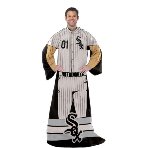 Chicago White Sox Uniform Comfy Throw Blanket with Sleeves by Northwest