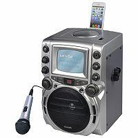 Karaoke USA CD+G 5-in. Black & White Screen Karaoke System