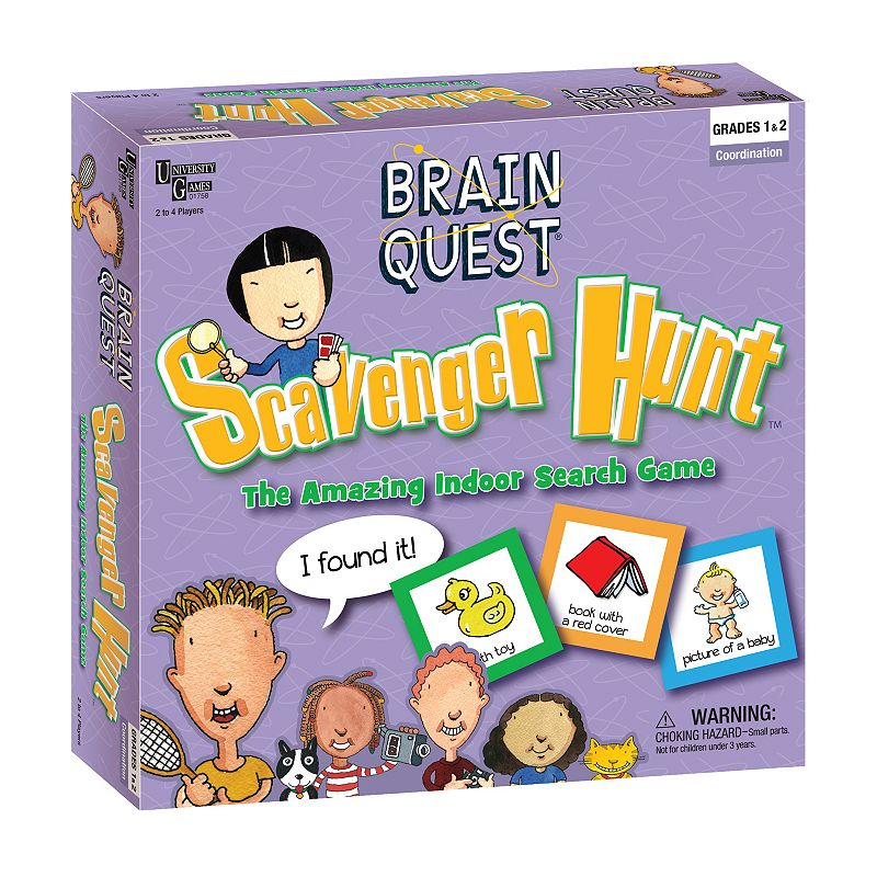 Brain Quest Scavenger Hunt Game by University Games