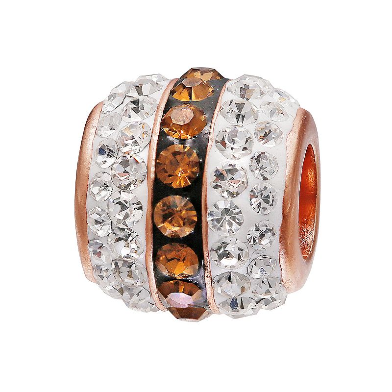 Individuality Beads 14k Rose Gold Over Silver Crystal Spacer Bead