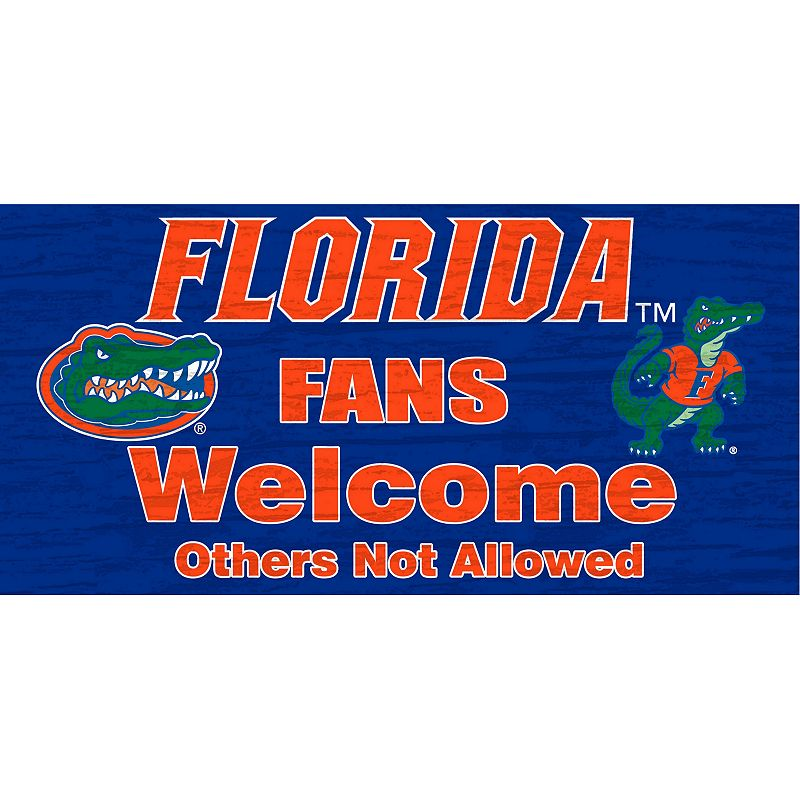Florida Gators Welcome Sign Wall Art