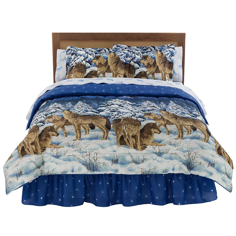 Midnight Wolves Bed Set