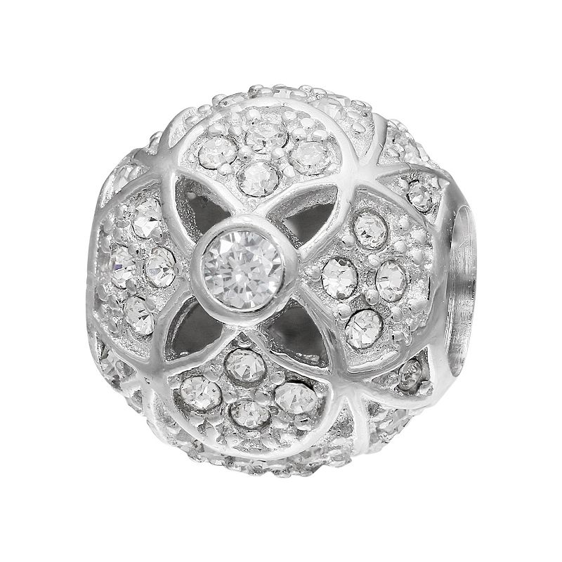 Individuality Beads Crystal Sterling Silver Spacer Bead