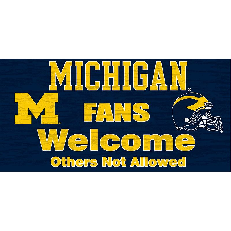 Michigan Wolverines Welcome Sign Wall Art